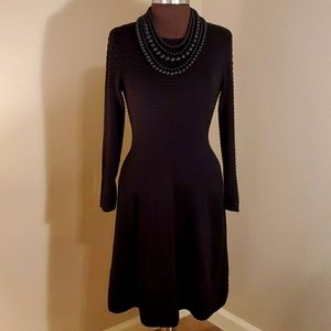 ANDREW MARC L/S Cable Knit Black Dress (LBD)